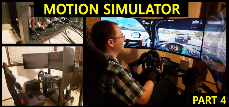 DIY Motion Simulator – Part 4 – Rig, monitor stand, accessories